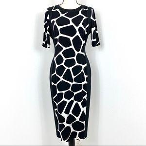 Maggy L Stretch Black/White Size 8